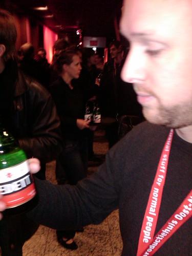 Frank Drank met Vedett bier