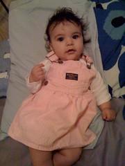 New pink overalls dress