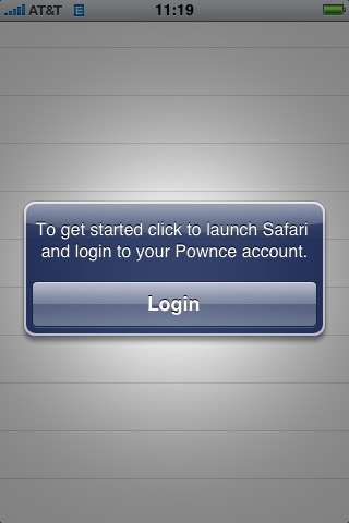 Pownce OAuth flow Step 1