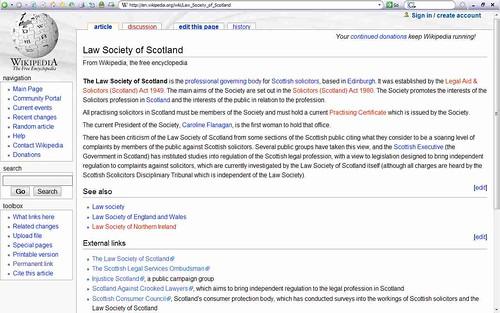 WikipediaLawSocietypagebeforeedit