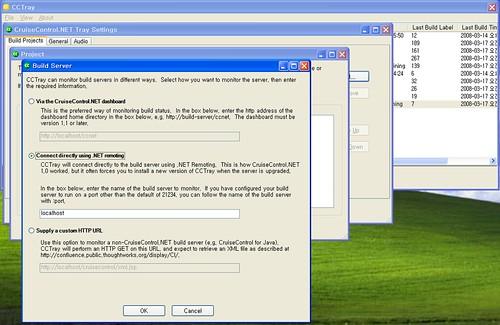 그림 5. CCTray에 서버 등록하기