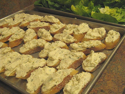chevre toasts