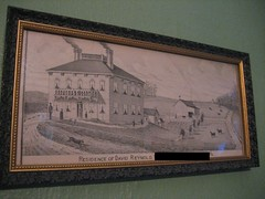 an artists drawing of our home in 1875