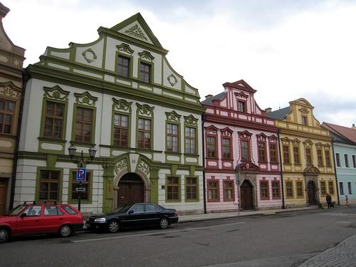 Baroque houses from Santini-Aichl, Velké naměsti, Hradec Králové