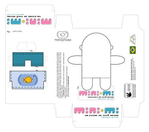 Embalagem planificada do mini-mi