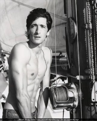 Adrien Brody is shirtless