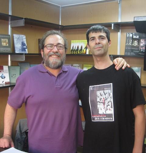 Chesús Yuste y Roberto Malo,  en la Feria del Libro de Zaragoza