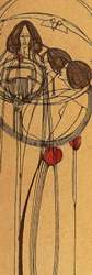 Charles Rennie Mackintosh. Portada del portfolio de House for and Art Lover . 1902.