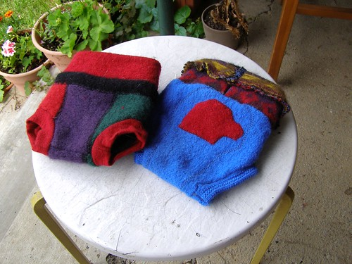 recycled wool soakers