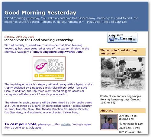 Vote Good Morning Yesterday!