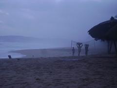 Green Turtle beach in the rain...