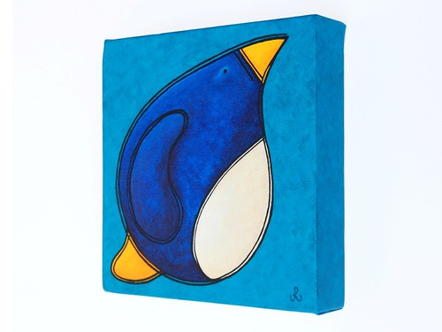 big fat penguin of determination - from side