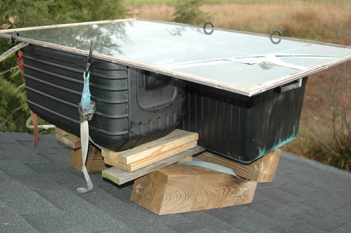 The duct tape applied to the cracked glass can be seen on the top of the coolers.