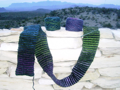 Noro Scarf, enjoying the view