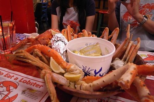 mix crab bowl and 2lb lobster