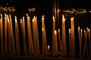 Candles in Lourdes