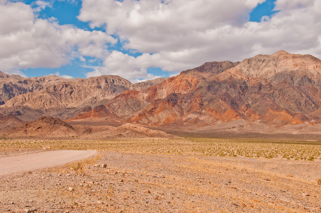 Colourful rocks, Death Valley