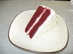 slice red velvet cake