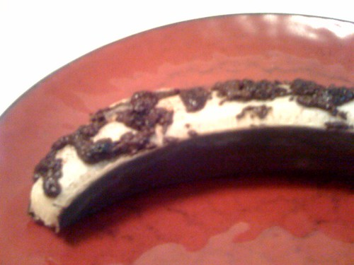 Roasted banana with chocolate