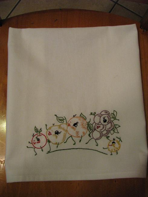 emboridery dish towel