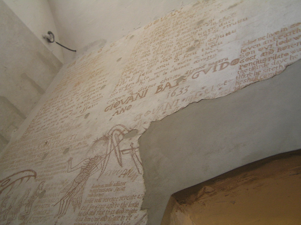 Graffiti Inside the Inquisition Prison