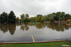 DuPage River Greenway Flooded