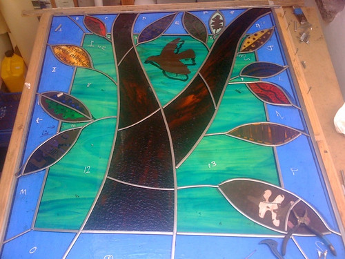 stained glass tree of life by Jane Littlefield