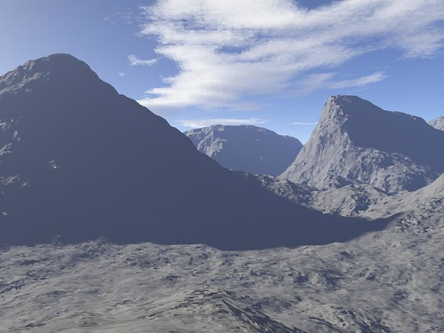 Peaks from Terragen 0.9 Freeware