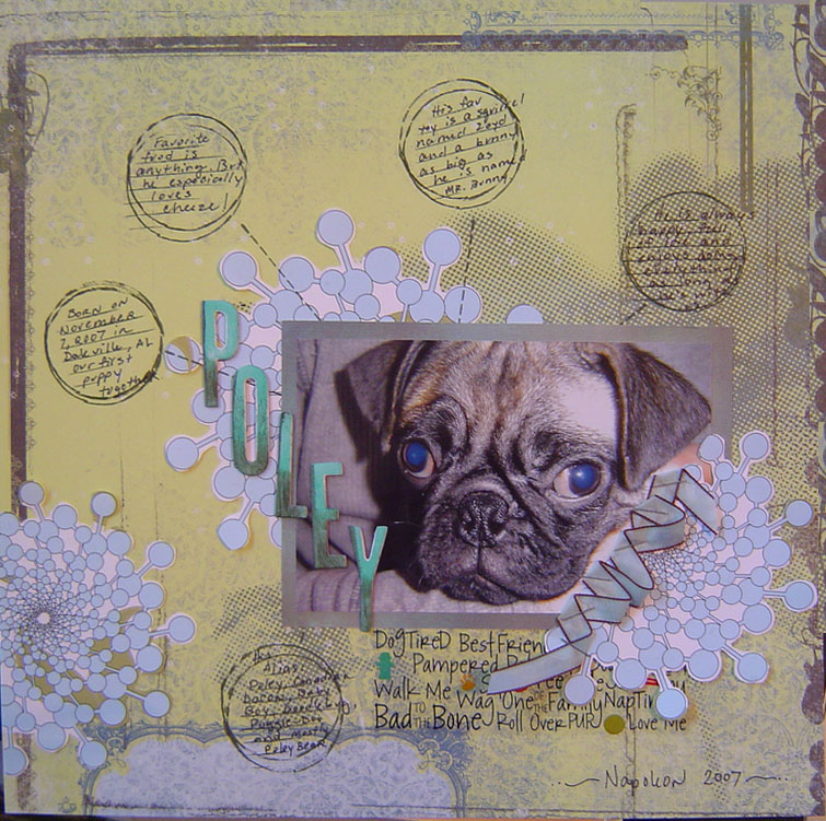Poley scrapbooked