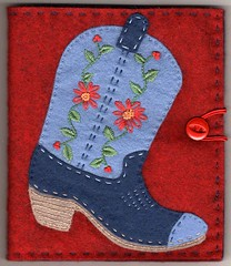 Boot needlebook for Pam