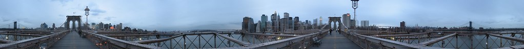 Brooklyn bridge 360 panorama