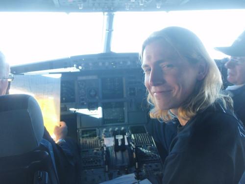 Uffe in Cockpit
