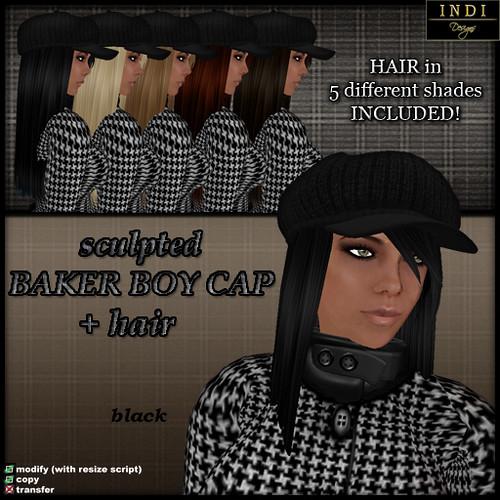 Baker Boy Cap black