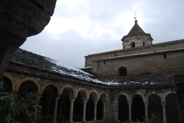 Claustro románico de la catedral de Roda de Isábena