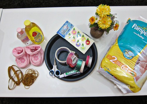 diaper cake materials