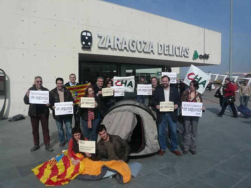 CHA protesta ante la discriminación del AVE con los viajeros aragoneses
