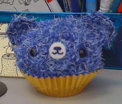 Blue cupcake bear