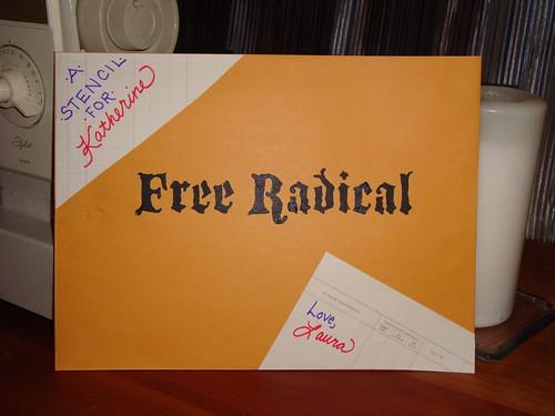 Free Radical Stencil