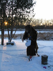 Bear At Sunset, Minneapolis, Minnesota, Winter Solstice, December 21st 2008, photo © 2008 by QuoinMonkey. All rights reserved.