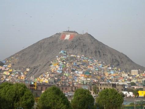 Mountain flag in Lima