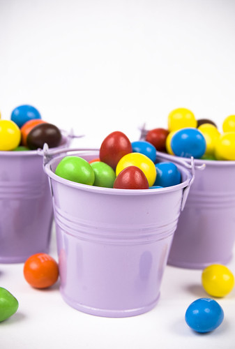 buckets of m&m