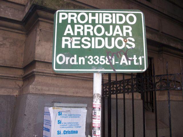 Prohibido Arrojar Residuos
