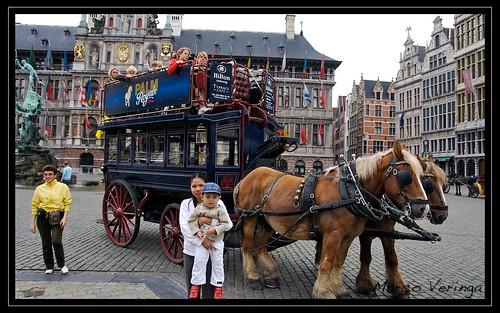 Market Place in Antwerpen, Belgium