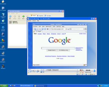 kubuntu guest machine dalam XP host machine.
