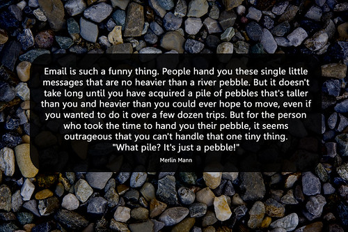 email pebbles by Will Lion, on Flickr