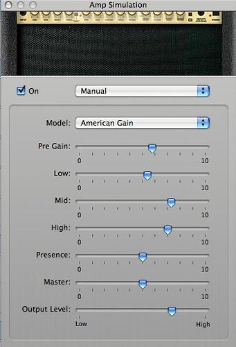"""Warm 2"" - #1 Amp Simulation settings"