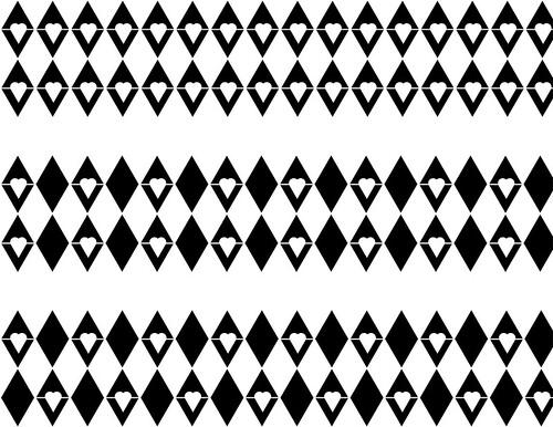 heart in diamonds print