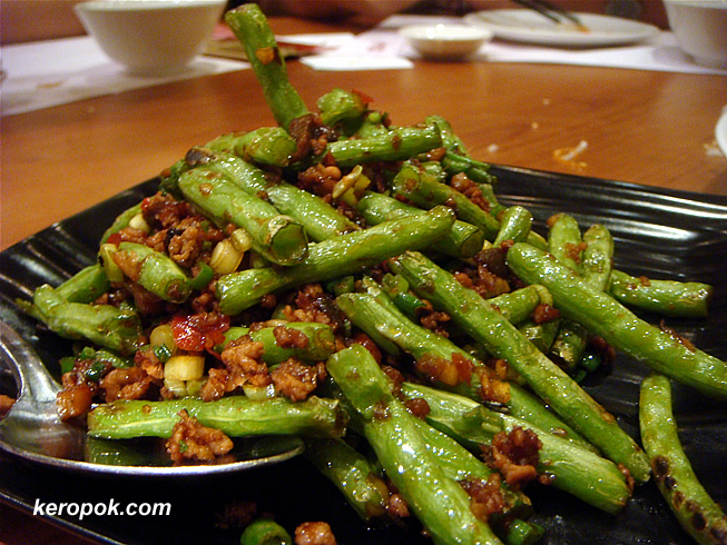 Long Beans with minced pork and olives