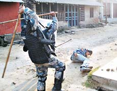 A scene during madhesi movement 2008