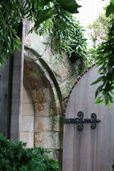 Other entrance to the Bishop's Garden